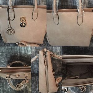 Handbags - Leather Tote with shoulder strap included